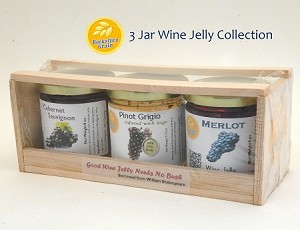 Berkshire Grain 3 Jar Wine Jelly Collection includes Free Shipping