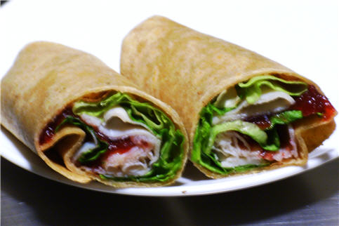 Turkey Wrap with Merlot Wine Jelly Swirl