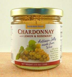 Chardonnay Wine Jelly with Lemon and Rosemary